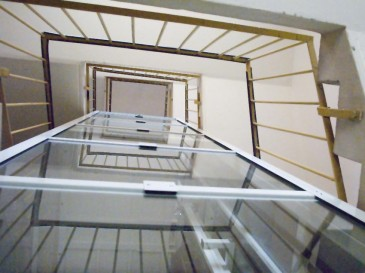 View of the location of the shaft in the stairwell.